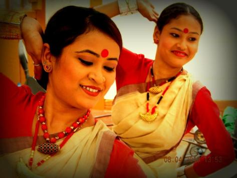 Bihu dancers at Prasanna's 2