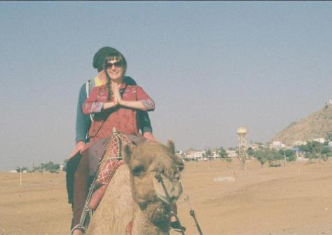 Lee and Issi on a camel