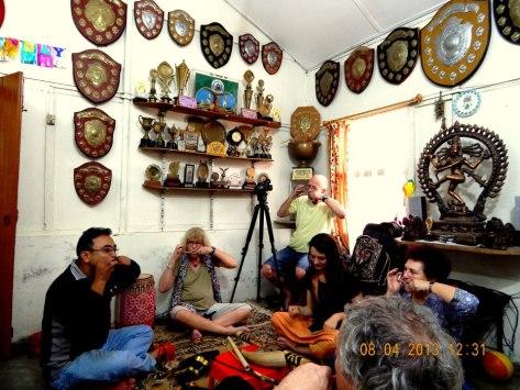 Practising Gogona at Prasanna's